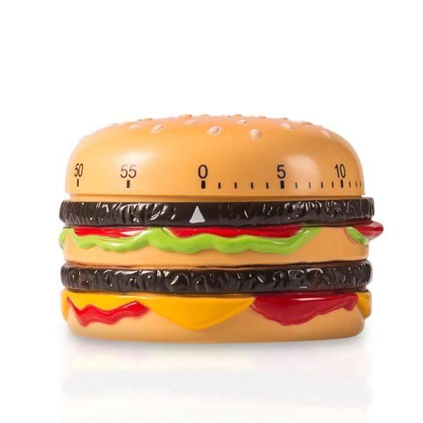 Kökstimer i form av hamburgare
