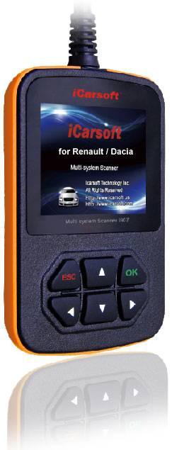 iCarsoft multisystemskanner för Renault/Dacia iCarsoft Multi-system Scan