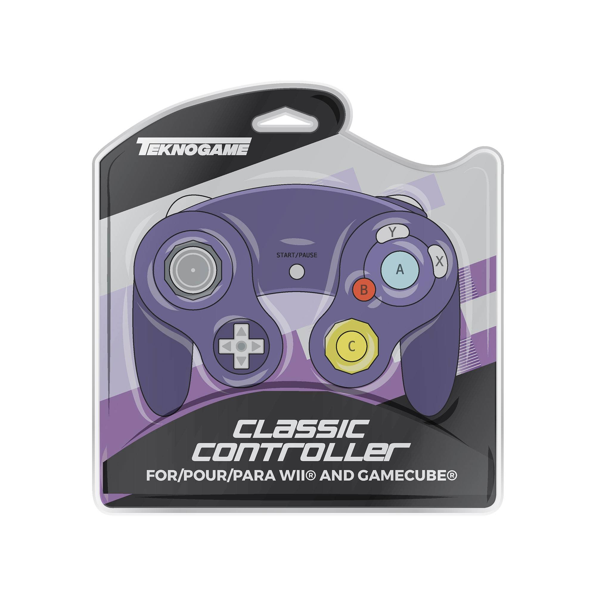 Gamecube kontroller för Gamecube, Wii, Wii U, Switch - Lila
