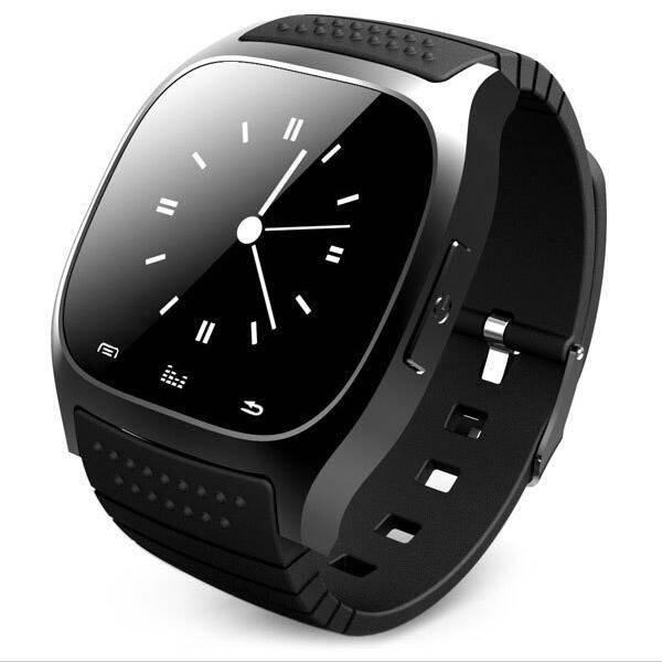 M26 Sport-Smartwatch, Bluetooth, Barometer, Termometer, Stegräknare - Android / iOS - Svart
