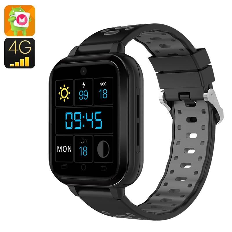 Q1 Smartklocka med Android 6.0, SIM-kort, 4G/BT/WiFi/GPS, IP67