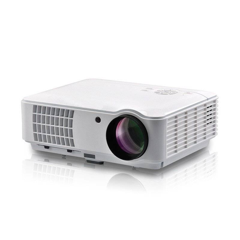 """Smart LED Projektor, 5500 lumen, 300"""" projektoryta, mediaspelare, USB,"""