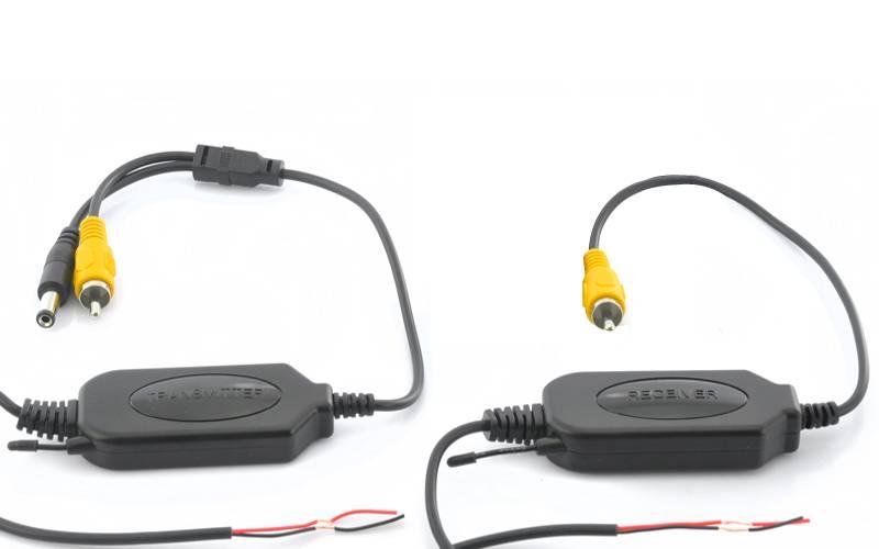 Trådlös videosändare och mottagare för analoga kameror, 2.4 GHz, Plug and Play