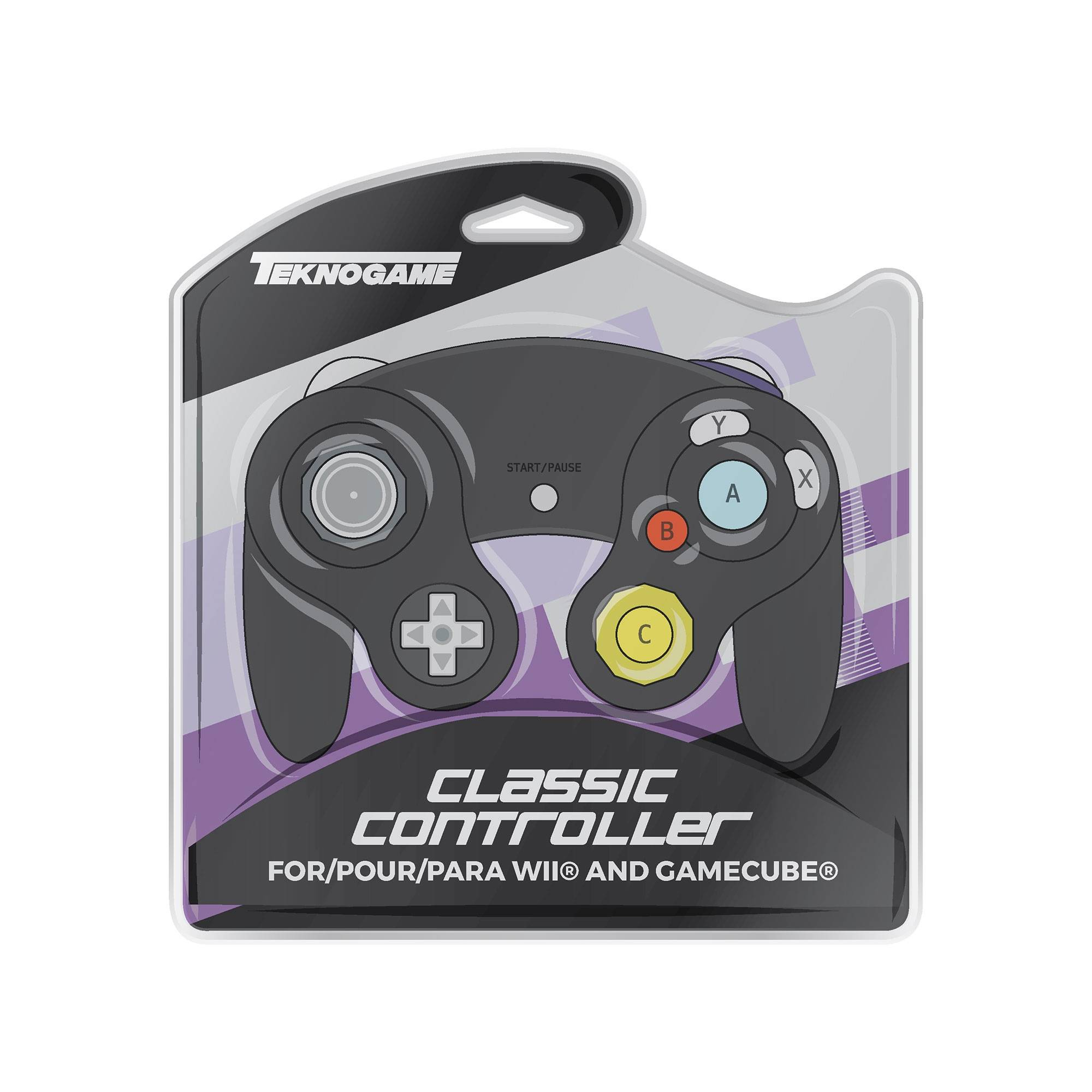 Gamecube kontroller för Gamecube, Wii, Wii U, Switch - Svart