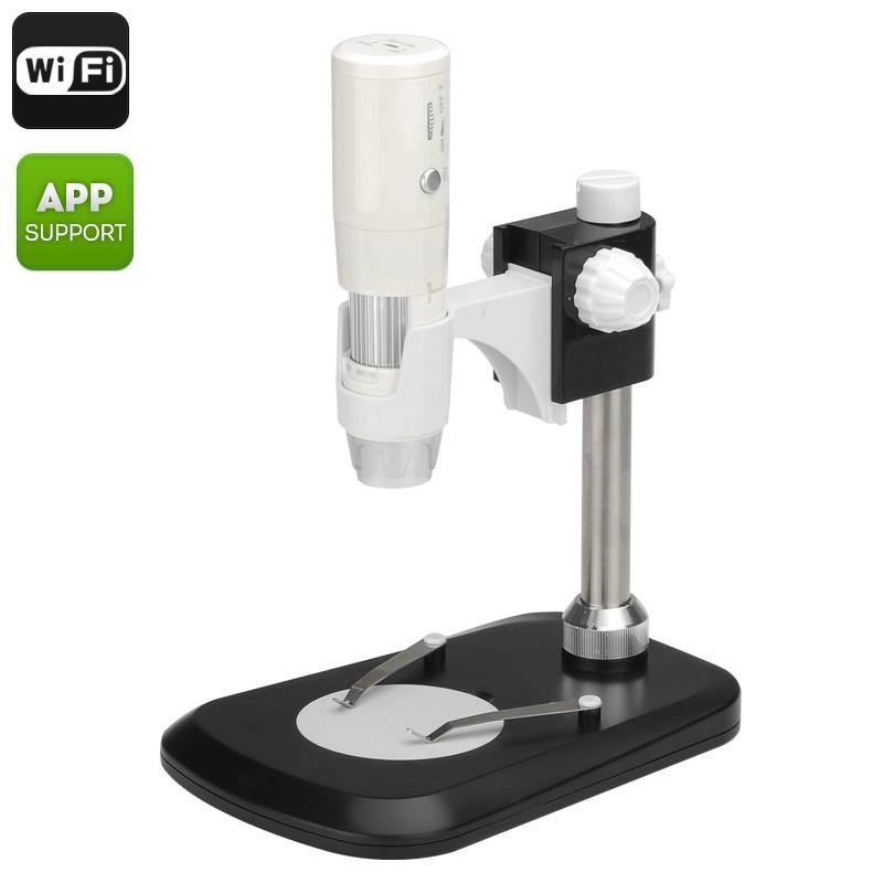 Trådlöst WiFi Mikroskop med 50-800x förstoring, LED-belysning, Justerbar fokus thumbnail